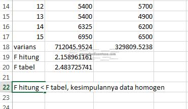 09 Uji T berpasangan dan tidak berpasangan di excell dan minitab uji T uji beda penyuluhan parametrik