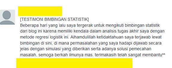 testimoni bimbingan statistik